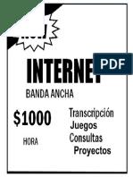 Aviso del servicio Internet