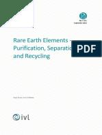 Rare Earth Elements Purification, Separación y Reciclo