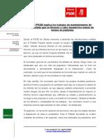 NP-EL PSOE Explica Los Trabajos de Mantenimienton en Arbolado Durante Los Meses de Verano