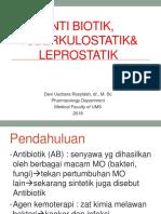 04 Kuliah Antibiotik Blok Tropmed Smt 3 Th 2018