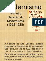 Modernismo Primeira Geracao (1922 1928) Funec 2018
