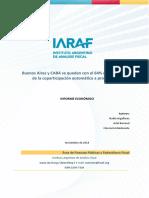 Análisis de la coparticipación del IARAF