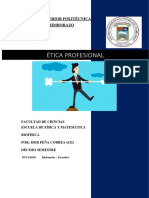 Etica Profesional-Iser Peña-los Valores