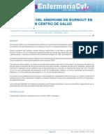 EVALUACION DEL SINDROME DE BURNOUT EN UN CENTRO DE SALUD