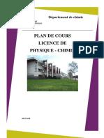 Plan de Cours Détaillé L Physique Chimie