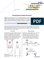 Postoperative cardiac exercises