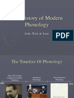 History of Phonology