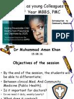 30 Slides Introductory Lecture Community Medicine Aman 15.08.16 - Copy