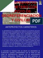 Anteproyecto Carretero Con Apoyo de Georeferenciacion y Civilcad
