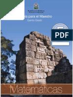 5togrado Guia Del Maestro - Matematicas
