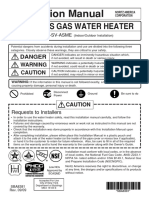 Installation Manual-gas Water Heater Nc380-Sv-Asme