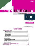 NUMERALIA PROCESO ELECTORAL 2017-2018