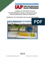 Bioensayo de Toxicidad Con Allium Fistulosum