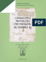 Catàleg Dels Protocols Del Districte de Figueres (II)