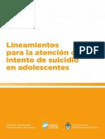 Argentina 2018 Lineamientos Atencion Intento Suicidio Adolescentes