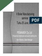 PEMA - Panel Welding Automation 2009