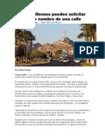 Hermosillenses pueden solicitar cambio de nombre de una calle.docx
