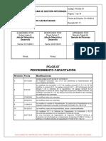 PG GE 07 Rev.11 Procedimiento Capacitación