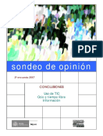 Sondeo2007 INJUVE SOBRE OCIO Y EMPLEO DE TIC