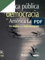 Políticas Publicas Democracia en América.