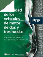 Seguridad de los vehículos de motor de dos y tres ruedas