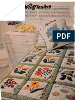 Wildflowers Applique & Embroidered Quilt Pillows Vintage BHG 1977