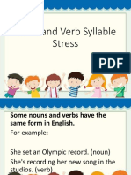 Noun and verb s