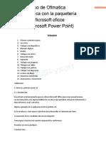 Curso de Ofimatica Basica -PowerPoint