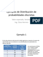 Ejemplos de Distribución de Probabilidades Discretas (1)