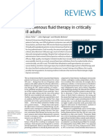 Intravenous Fluid Therapy in Critically Ill Adults