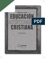 Hacia Una Educación Auténticamente Cristiana