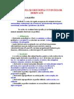 0ortografia Si Ortoepia Cuvintelor Derivate