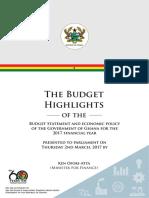 2017 Budget Highlights MoF Ghana.pdf
