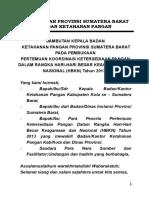 Sambutan Ka. Badan Pertemuan Koordinasi Ketersediaan 2013