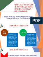 Quyền và nghĩa vụ NLĐ trong công tác ATVSLĐ