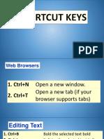 1. Shortcut Keys