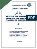 Rendimiento Esperado Del Mercado de Valores de Buenos Aires