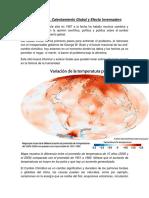 Cambio Climatico Temperatura Ambiental de Mte