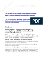 Biological Science Canadian 2nd Edition Freeman Solutions Manual