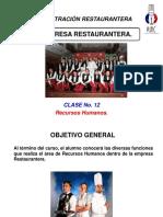 Administración Restaurantera Clase 12