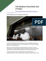 Komnas HAM Salahkan Pemerintah Soal Kasus Paniai Papua