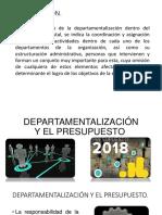 Departamentalizacion y El Presupuesto Power