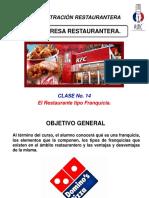 Administración Restaurantera Clase 14 Franquicias