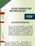 Informe de Conductas Antisociales