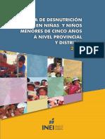 [2009] INEI - Mapa de desnutrición crónica en niños y niñas menores de 5 años a nivel provincial y distrital 2009.