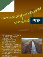Construcción de Canales, Fosos