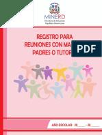 Registros de Reuniones Con Madres, Padres o Tutores