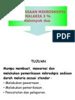 Tugas Kelompok Malaria 3%