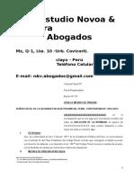 MODELO DE INCORPORACION DE MEDIOS DE PRUEBA