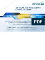 Assessment of Solar and Wind Energy in Qatar